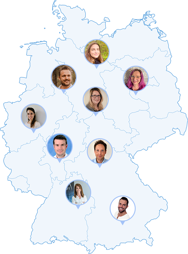 Deutschland Karte mit Dozenten